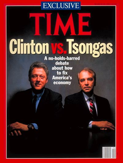 Democratic Presidential Candidates, Bill Clinton and Paul Tsongas