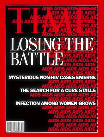 TIME Magazine Cover: AIDS Epidemic -- Aug. 3, 1992