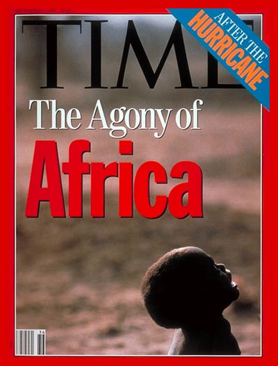 TIME Magazine Cover: Agony of Africa -- Sep. 7, 1992
