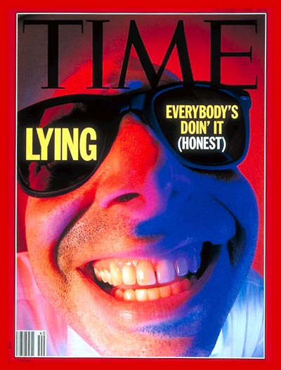 TIME Magazine Cover: Lying -- Oct. 5, 1992