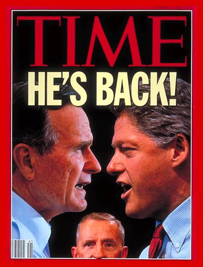 TIME Magazine Cover: George Bush, Bill Clinton & H. Ross Perot -- Oct. 12, 1992