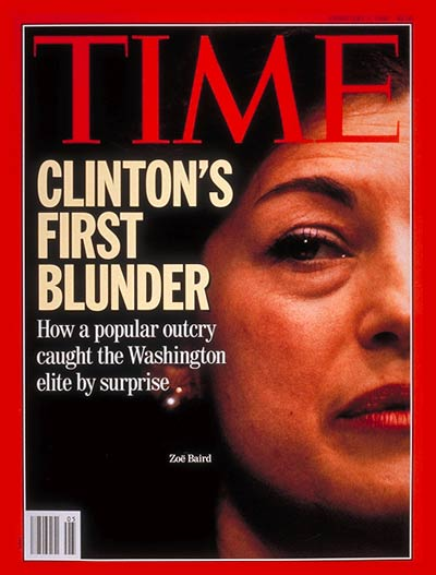 TIME Magazine Cover: Zoe Baird -- Feb. 1, 1993