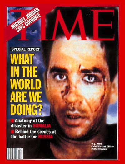 Black Hawk Down Book Cover ~ Time magazine cover michael durant oct