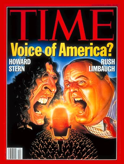 TIME Magazine Cover: Howard Stern & Rush Limbaugh -- Nov. 1, 1993