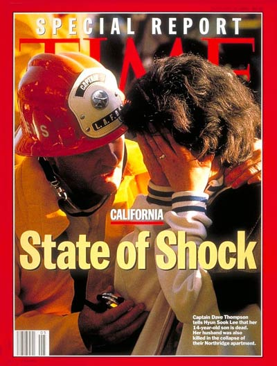 TIME Magazine Cover: California Earthquake -- Jan. 31, 1994