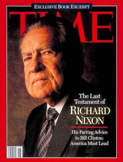 TIME Magazine Cover: Richard Nixon - May 2, 1994 - Richard ...