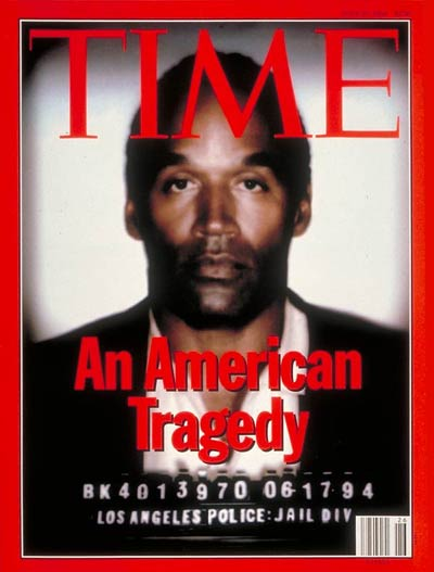 LAPD mug shot of O.J. Simpson. Photo-Illustration for TIME by Matt Mahurin.