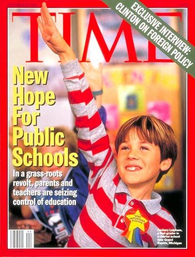 TIME Magazine Cover: New Hope for Public Schools -- Oct. 31, 1994