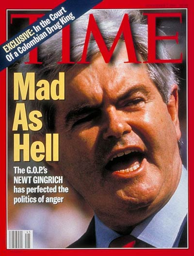 Mad as Hell' Newt Gingrich