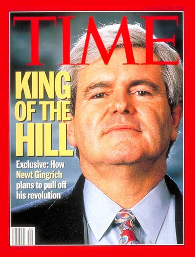 TIME Magazine Cover: Newt Gingrich -- Jan. 9, 1995