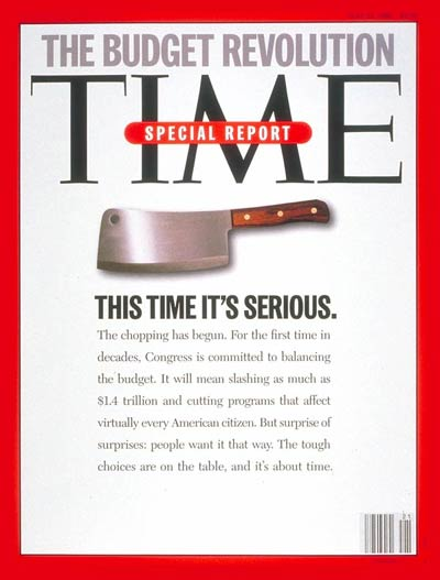 TIME Magazine Cover: The Budget Revolution -- May 22, 1995