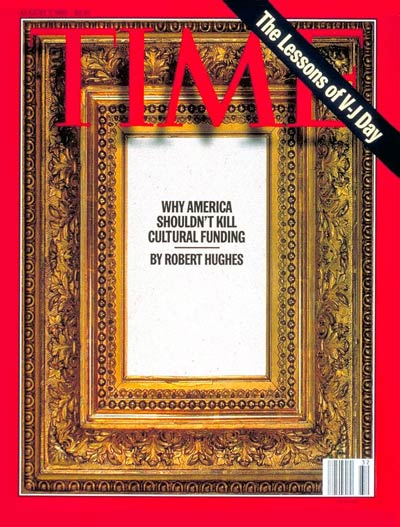 TIME Magazine Cover: Cultural Funding -- Aug. 7, 1995