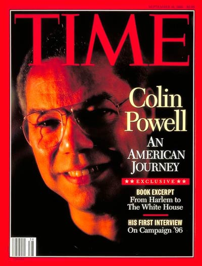 TIME Magazine Cover: Colin Powell -- Sep. 18, 1995