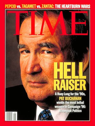 TIME Magazine Cover: Pat Buchanan -- Nov. 6, 1995