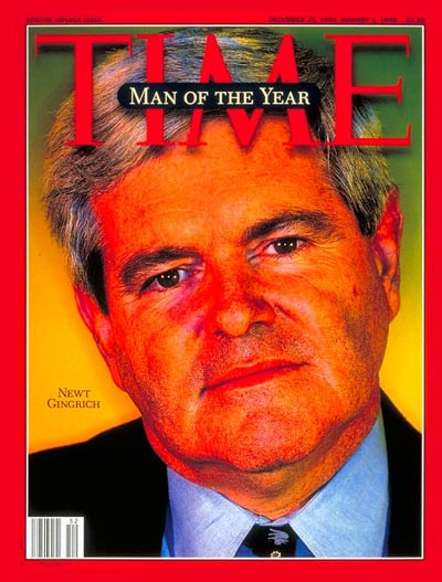 TIME Magazine Cover: Newt Gingrich, Man of the Year -- Dec. 25, 1995
