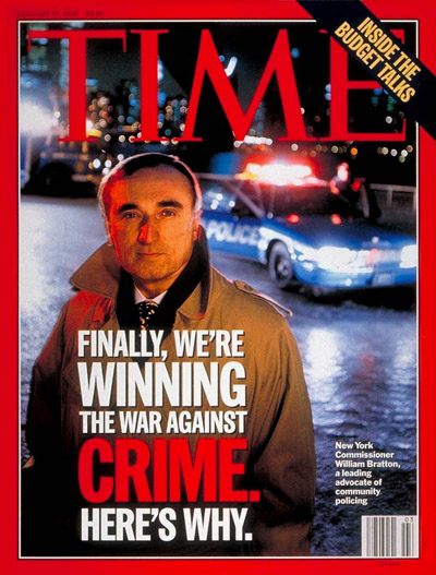 TIME Magazine Cover: William Bratton, New York City's Top Cop -- Jan. 15, 1996