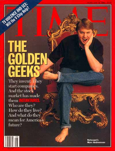 TIME Magazine Cover: Netscape's Marc Andreessen -- Feb. 19, 1996