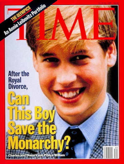 TIME Magazine Cover: Prince William -- July 22, 1996