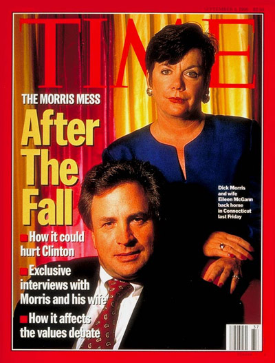 TIME Magazine Cover: Dick Morris and Wife Eileen McGann -- Sep. 9, 1996