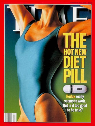Redux, the hot new diet pill. Photograph by Michael Keller-FPG International (Background digitally altered)