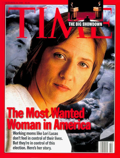 TIME Magazine Cover: Working Mom Lori Lucas -- Oct. 14, 1996
