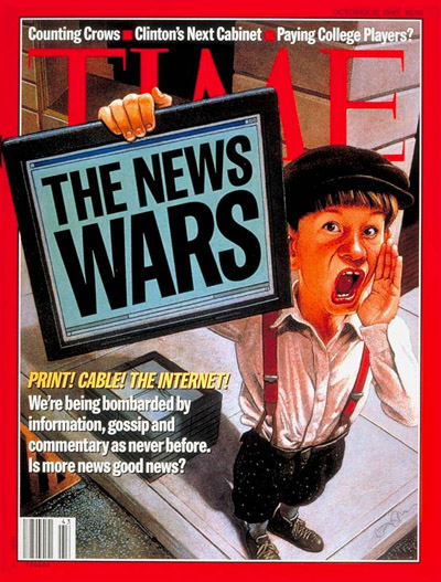 TIME Magazine Cover: News Wars -- Oct. 21, 1996