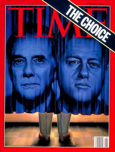 TIME Magazine Cover: Bob Dole, Bill Clinton -- Nov. 4, 1996