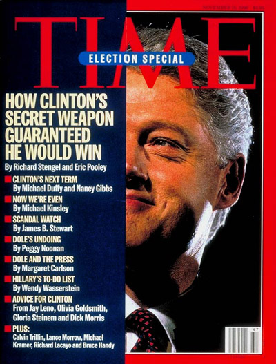 TIME Magazine Cover: Bill Clinton -- Nov. 18, 1996