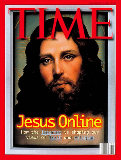 Jesus & the Internet. Digital photomontage. Illustration  Jesus for TIME by Kinuko Y. Craft.