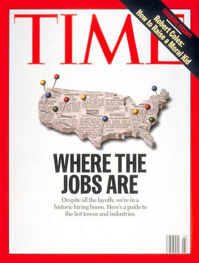 TIME Magazine Cover: Where the Jobs Are -- Jan. 20, 1997