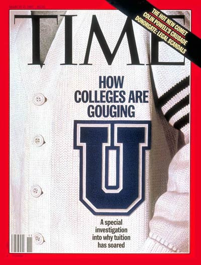 TIME Magazine Cover: College Tuition -- Mar. 17, 1997
