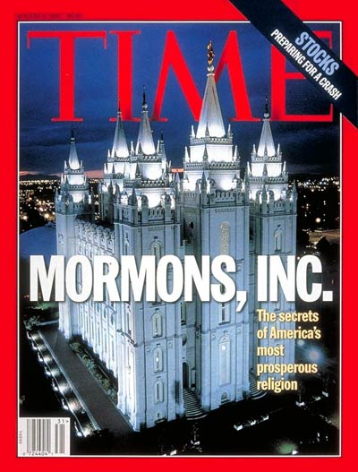 Mormons, Inc. Photograph of the  Salt Lake Temple,   the Church  Jesus Christ  Latterday Saints, Salt Lake City, Utah.