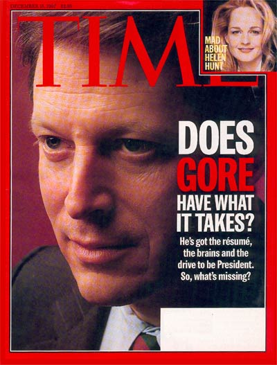 TIME Magazine Cover: Al Gore -- Dec. 15, 1997