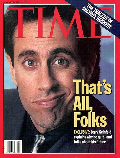 TIME Magazine Cover: Jerry Seinfeld -- Jan. 12, 1998
