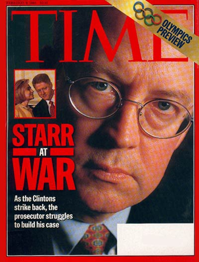 TIME Magazine Cover: Kenneth Starr -- Feb. 9, 1998