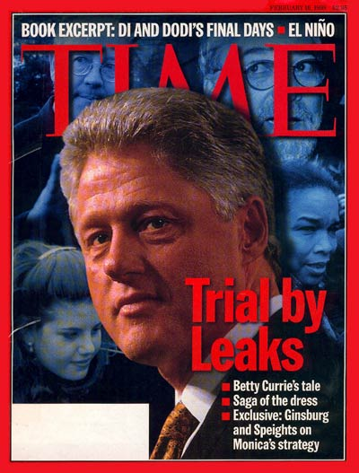 TIME Magazine Cover: Bill Clinton -- Feb. 16, 1998