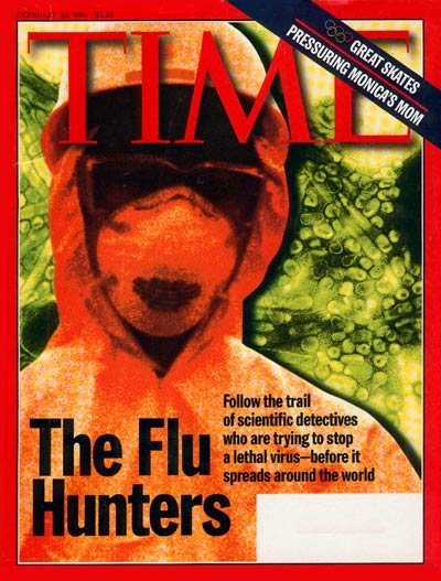TIME Magazine Cover: The Flu Hunters -- Feb. 23, 1998