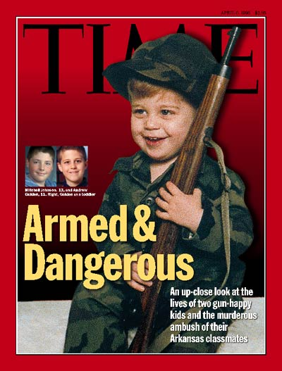 Jonesboro AR Middle School Shooting http://www.time.com/time/covers/0,16641,19980406,00.html