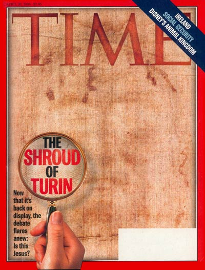 TIME Magazine Cover: The Shroud of Turin -- Apr. 20, 1998
