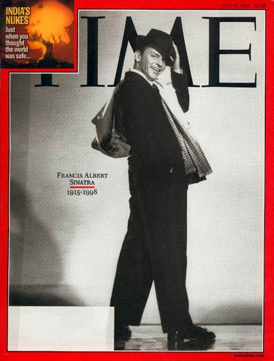 TIME Magazine Cover: Frank Sinatra -- May 25, 1998