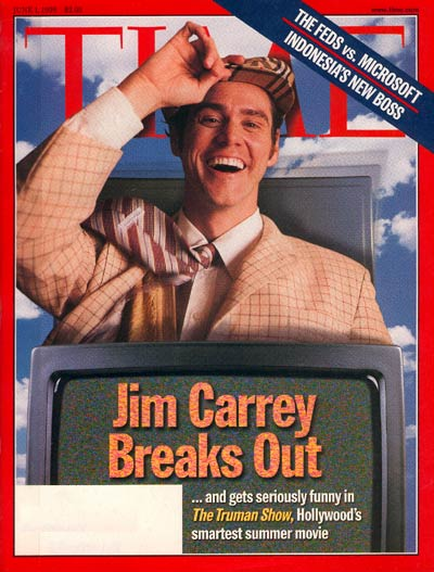 Actor Jim Carrey in the film 'The Truman Show'