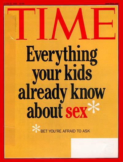 TIME Magazine Cover: Kids and Sex -- June 15, 1998