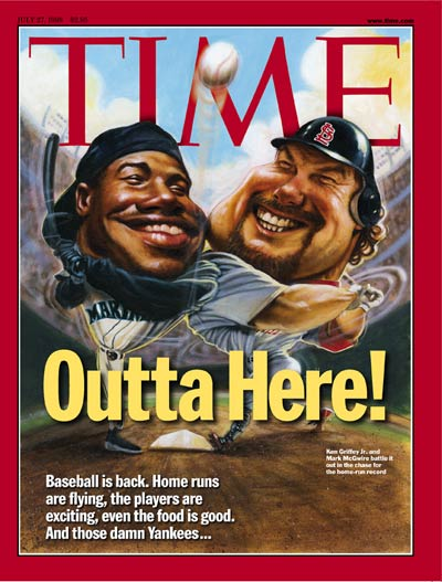 Home run leaders Ken Griffey Jr. & Mark McGwire