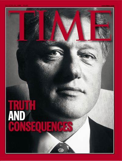 TIME Magazine Cover: Bill Clinton -- Aug. 24, 1998