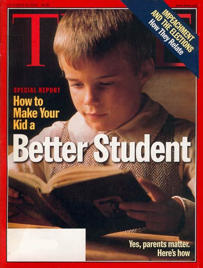 TIME Magazine Cover: How to Make Your Kid a Better Student -- Oct. 19, 1998