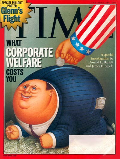 TIME Magazine Cover: Corporate Welfare -- Nov. 9, 1998