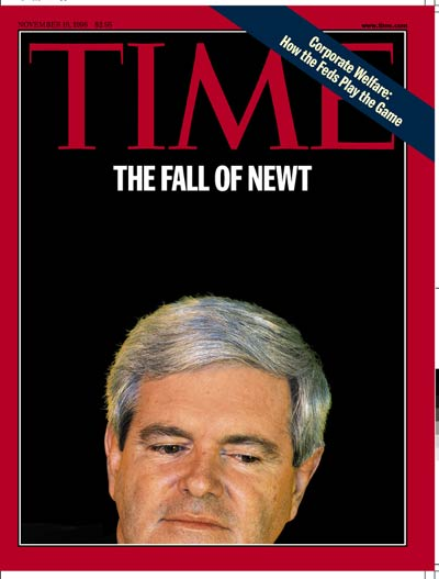 TIME Magazine Cover: Newt Gingrich -- Nov. 16, 1998