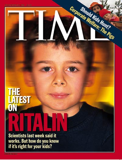 Ritalin patient 9 yr-old William Grace-Stevens. Inset: kids hunting by Steve Liss.