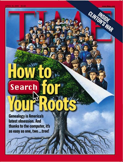 TIME Magazine Cover: Genealogy -- Apr. 19, 1999