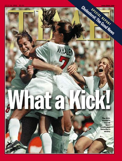 TIME Magazine Cover: Women's Soccer -- July 19, 1999